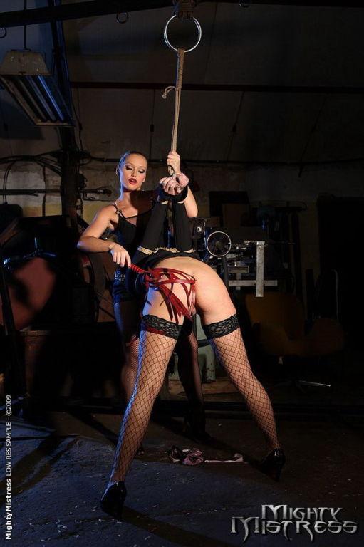 Kathia Nobili lesbian dominatrix with Barbie Pink