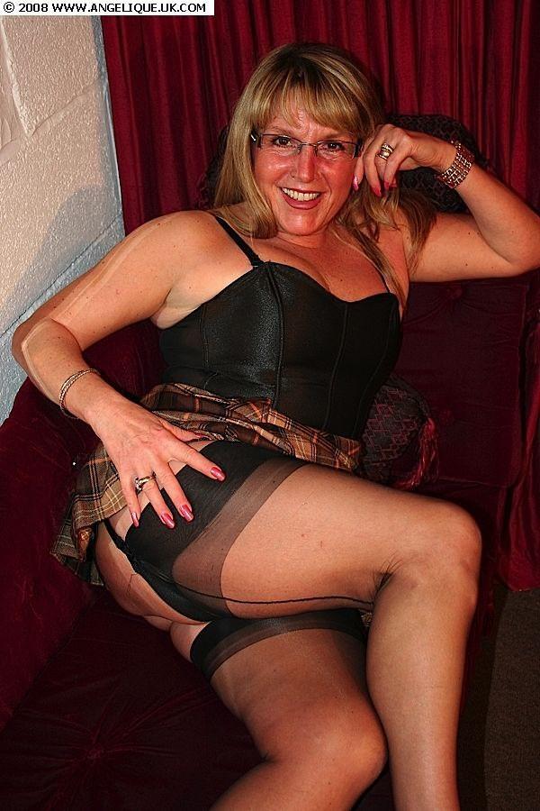 Stockings Amateur mature milf