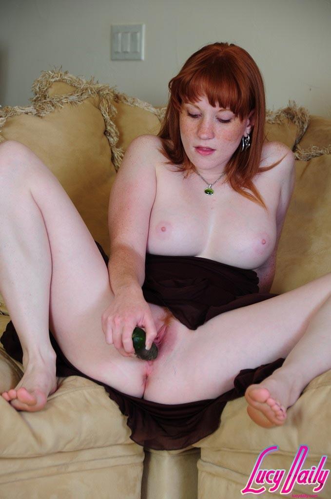 Fucking cucumber Redhead a