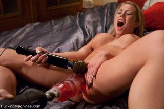 Shawna Lenee sexy blonde is machine fucked