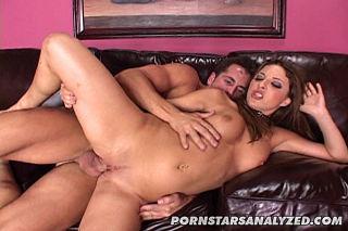 Brunette babe Karina Kay gets ass slammed with dic