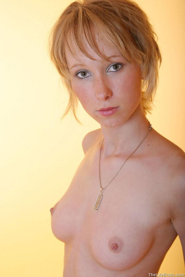 Commit error. Skinny redhead pointy tits