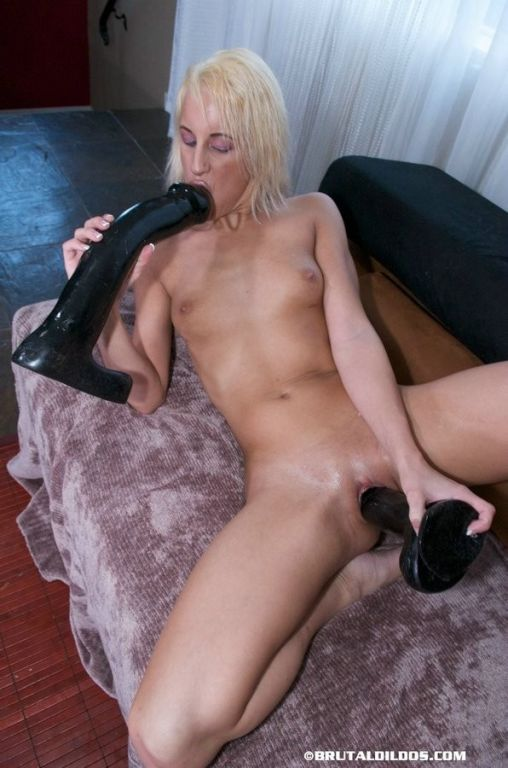 Desire rides a thick black dildo