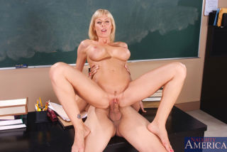 Holly Sampson gives it up in the classroom