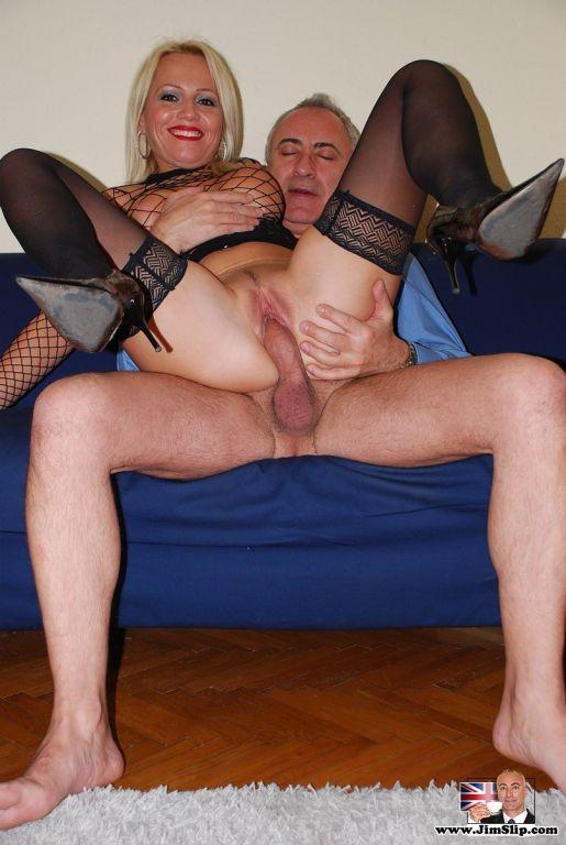 Busty British slut gets anal fucked by a senior