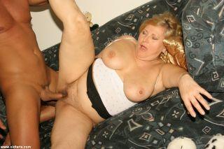 Chunky granny gets banged