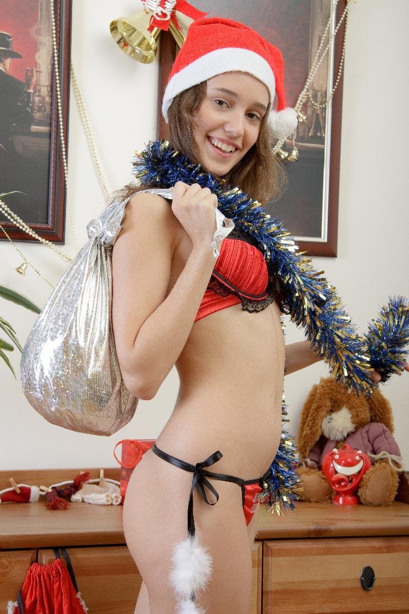 Good naked teens with santa costume