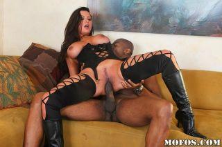 Nikita Denise riding his massive black cock