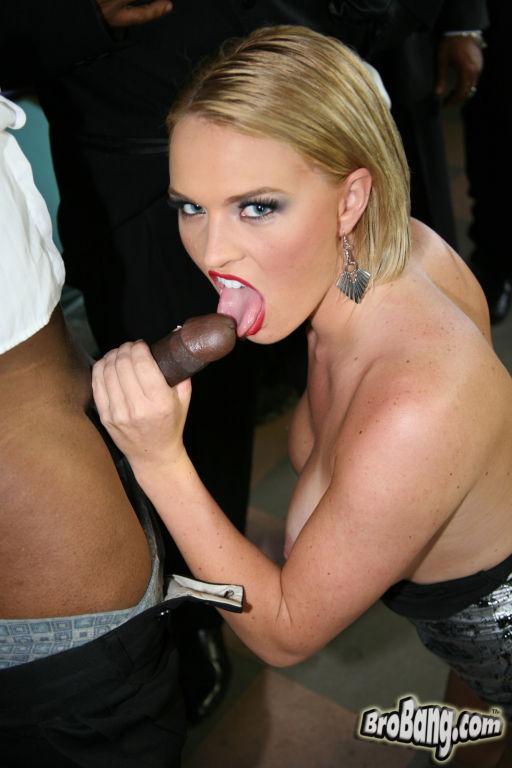 Krissy Lynn gets gangbanged and facialed by black