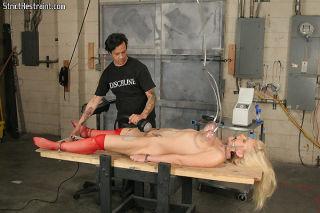 Heidi Mayne hot blonde in rough bondage getting as