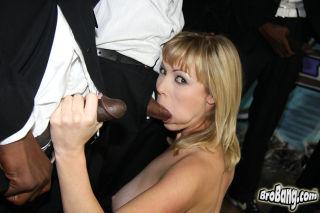 hot MILF Adrianna Nicole gets bukkaked by ten blac