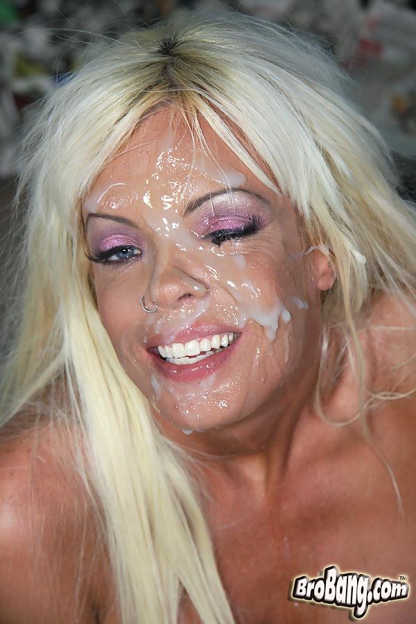 Busty blonde MILF Jordan Blue gets bukkaked by black men ...