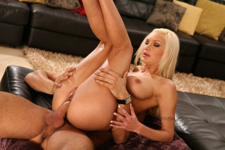 Amy Reid pleasing two rock hard cocks at once