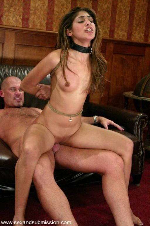 Girl getting bondage experience and having sex in