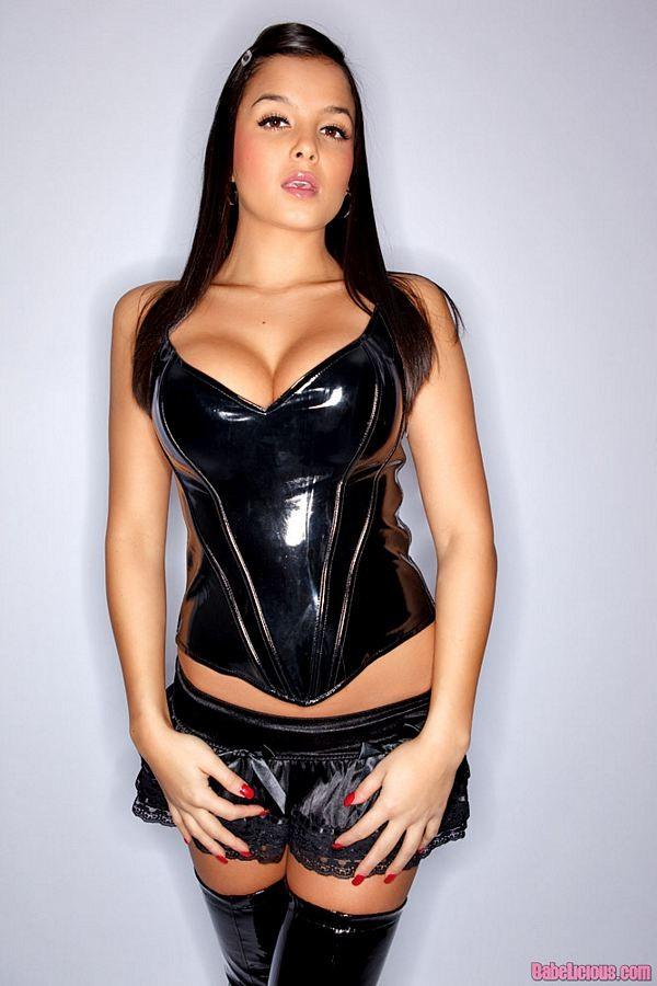 Latex corset porn