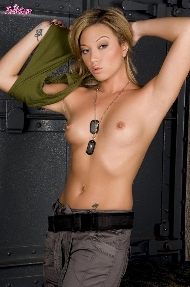 Big booty naked girl with gun