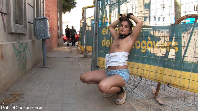 Curious nude girl bondage in public opinion