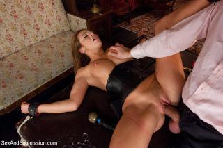 Mia Lelani busty asian as sex slave in bondage