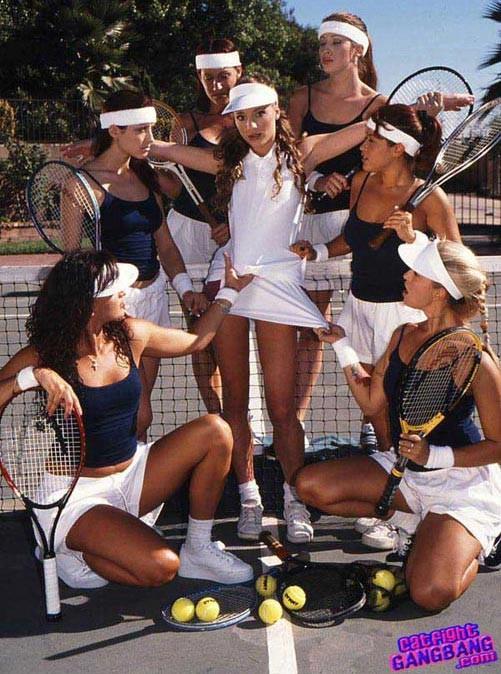 Lesbian tennis porn