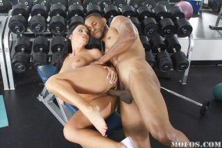 Big tits mature pornstar fucking a huge black cock