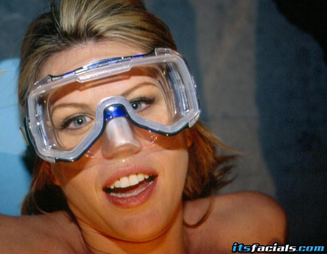 Bukkake goggle Lisa sparxxx
