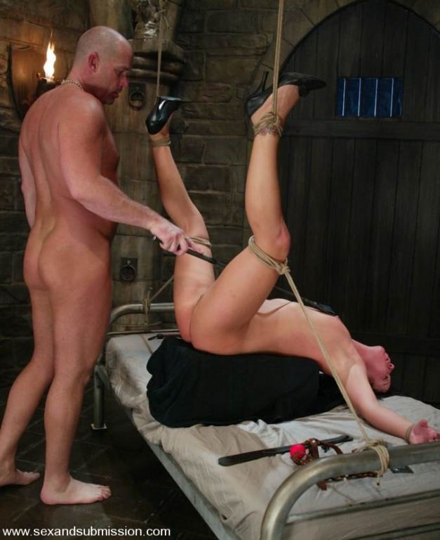 Julie Night gets bondage act and fucked hard in du