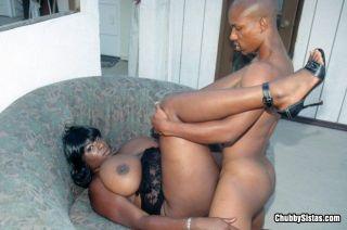 Ebony Babe Gets Pounded Doggy Style