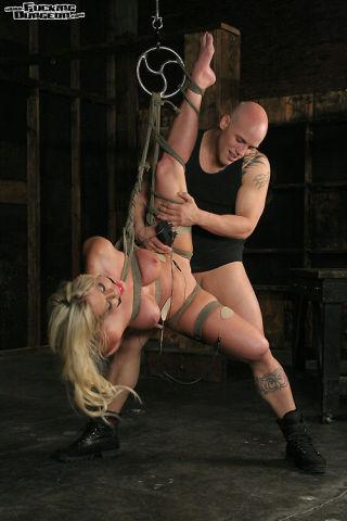 Big tit blonde Ahryan Astyn bound in dark fantasy