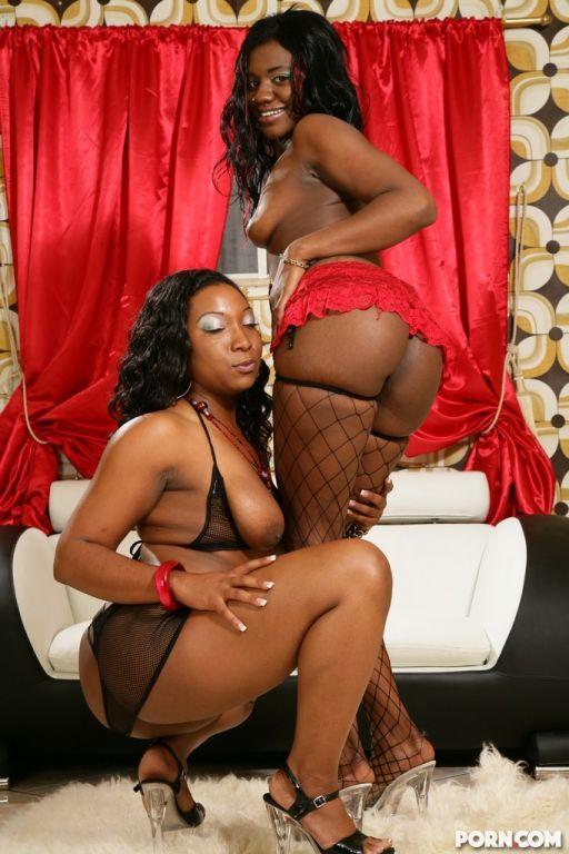 Big butt showing naughty black lesbos