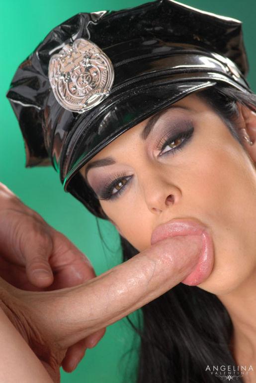 Angelina Valentine doing a hot blowjob