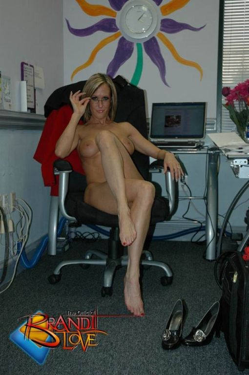 Brandi Love office striptease