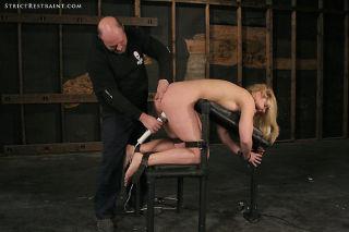 Blonde Hollie Stevens pain slut loves bondage with
