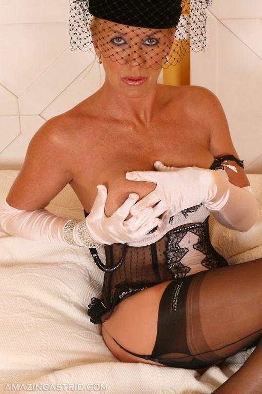 Glamour Astrid upskirt showing panties