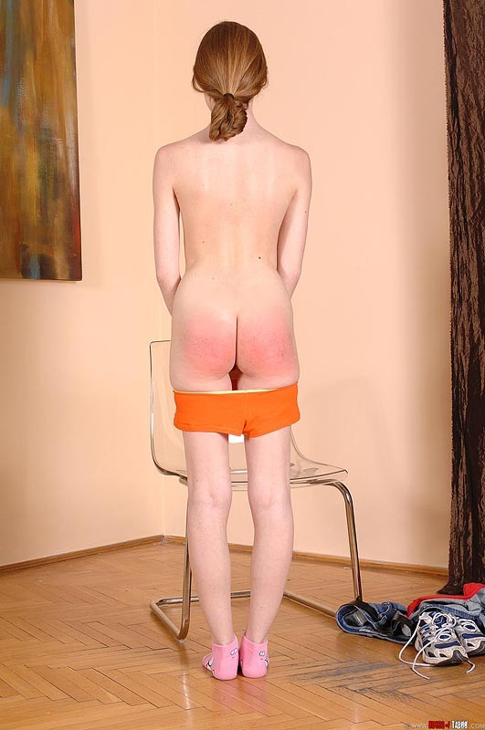 Redhead spanked