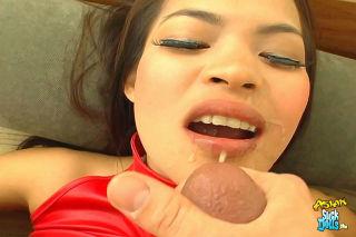 Asian cutie gets the suck  fuck treatment