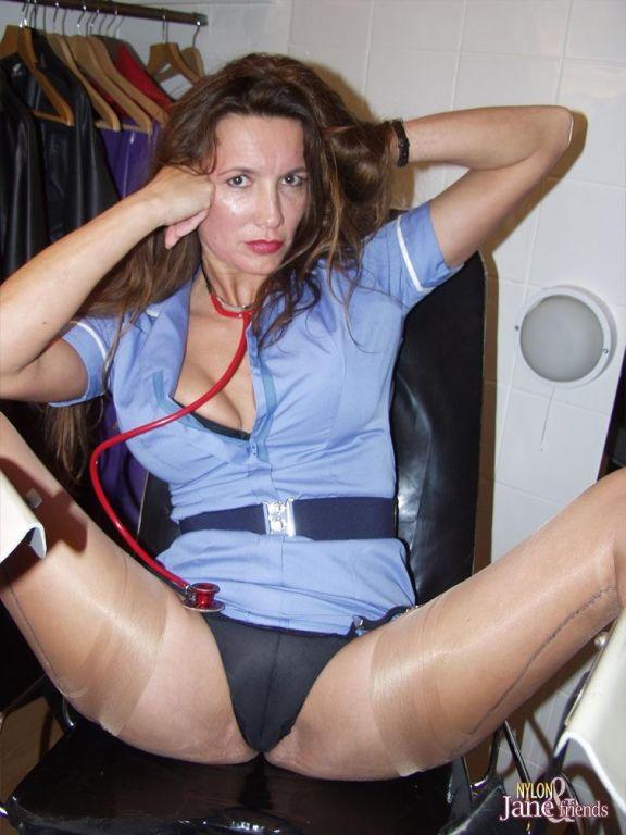 Kinky nurse nylon Jane