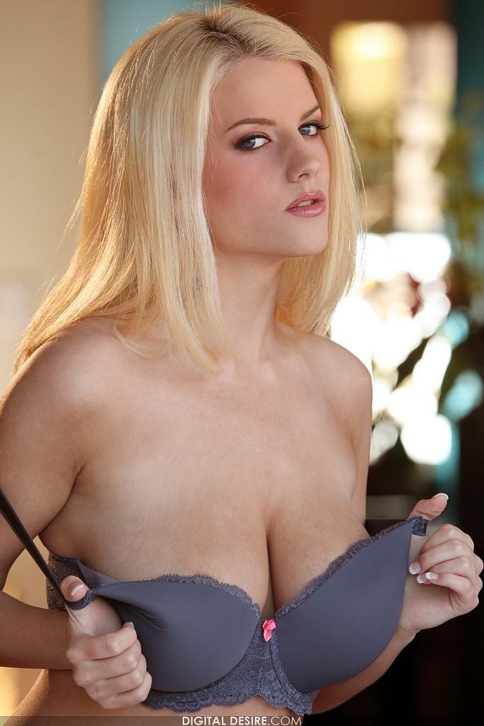Big blonde busty natural tit