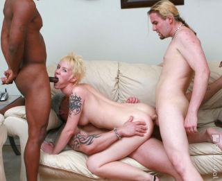 Blonde hoe in hardcore bdsm gangbang sex and bukka