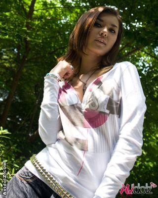 Japanese avidol Maria Ozawa posing outdoor