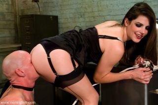 Mistress Bobbi Starr getting nice male bound for o