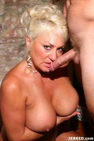 Big breasts blonde older woman in hot lingerie har