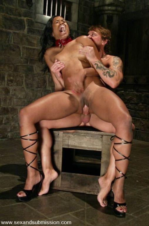 Pretty mulatta Sydnee Capri bondaged and fucked in