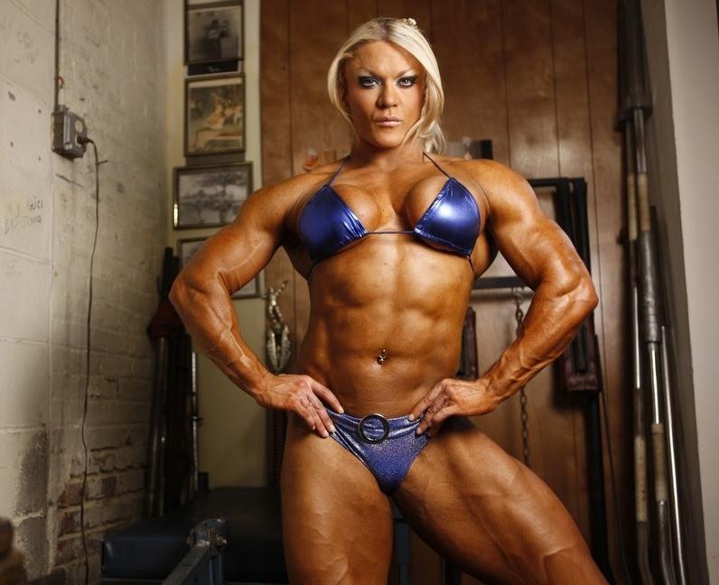 BONNIE: Female Bodybuilding Lesbian Fantasy Lisa Cross