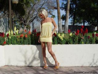 Teen outside in short dress