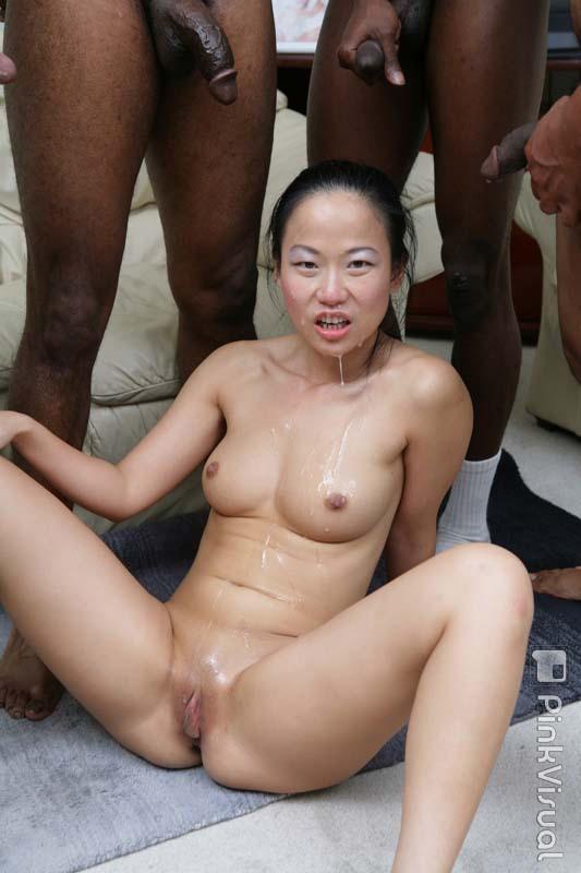 Asian black gang bang