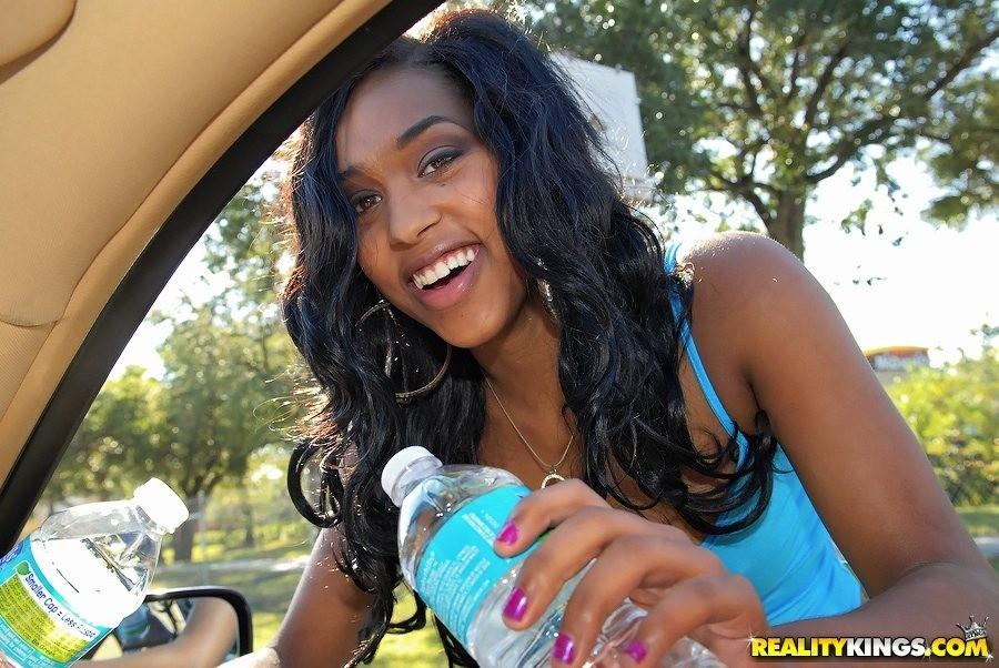 Ebony Thot Giving Head Car