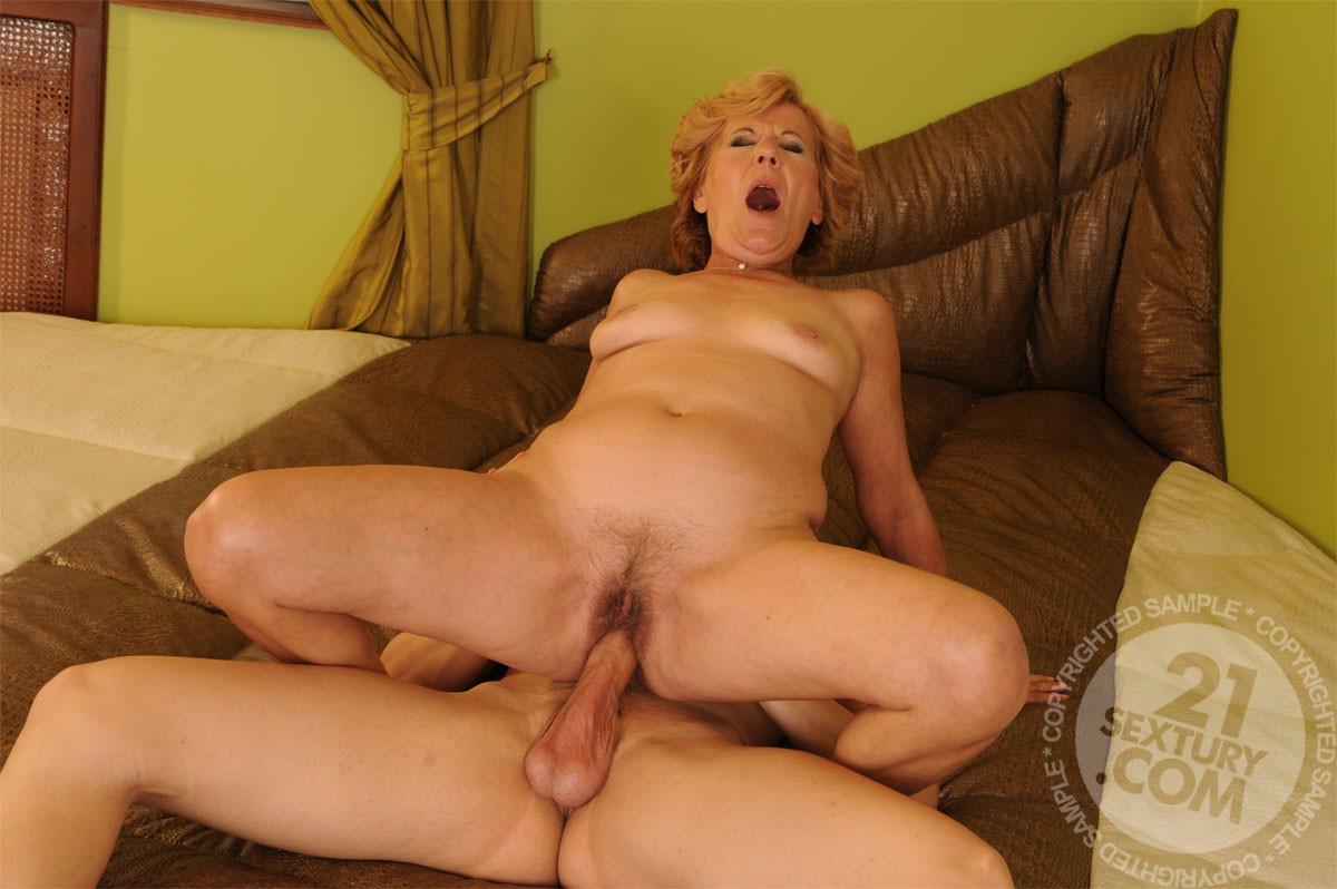 Grandma having naked sex
