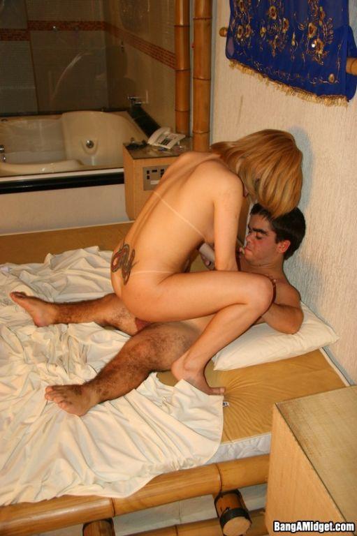Blonde Enjoying Midget Dick