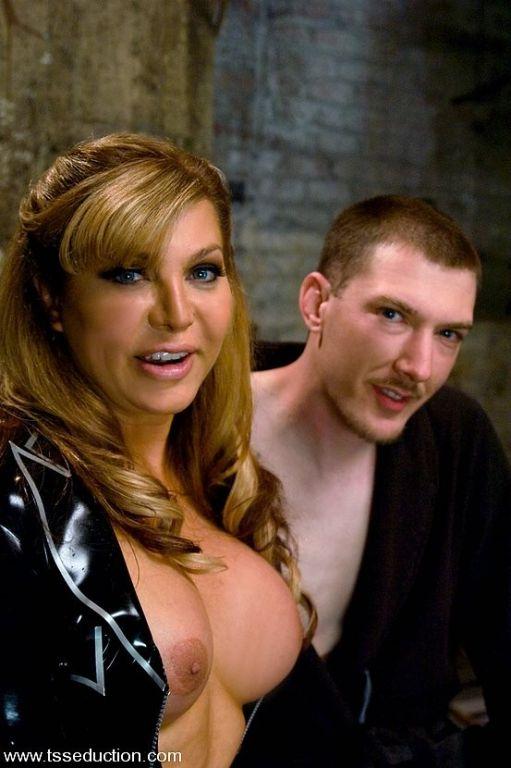 Blonde Heeled Mistress Carmen Cruz having toyboy b