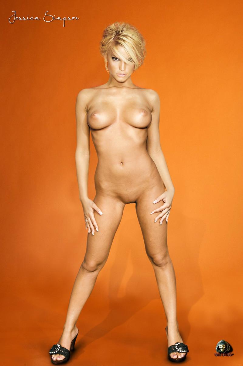 Naked Jessica Simpson Busty Jessica Simpson Jessica Simpsons Tits